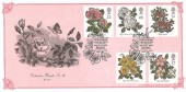 1991 Roses, World Rose Convention Belfast, Bradbury VP60 Official FDC, World Rose Convention Belfast H/S