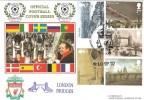 2002 Bridges of London, Liverpool 10 European Trophies, Dawn Official FDC