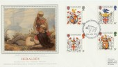 1984 Heraldry PPS Sotheby Silk No.1 FDC, Richard III Quincentenary Celebrations Leicester H/S