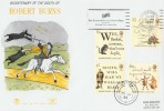 1996 Robert Burns  Stuart FDC with The Glasgow Royal Concert Hall Slogan