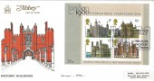 1978 Historic Buildings Miniature Sheet, Abbey FDC, Hampton Court Palace H/S