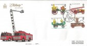 1974 Fire Service, Abbey FDC, Philatelic Bureau H/S