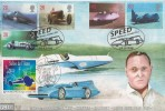 1998 Speed, GBCovers GB17, Sir Malcolm & Donald Campbell Doubled Official FDC