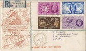 1949 Universal Postal Union (UPU) Cosmo Club, Registered FDC, South Norwood SE25 cds