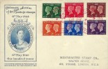 1940 Postage Stamp Centenary, Perkins Bacon FDC Stamp Centenary Red Cross H/S