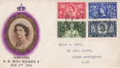 1953 Coronation, BPA Illustrated FDC, London cds