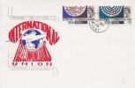 1965 International Telecommunications, Phosphor Set, Connoisseur FDC, Dover Kent cds
