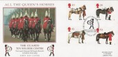 1997 All the Queen's Horses, Birdcage Walk London SW1, Steven Scott Official FDC