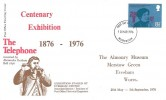 1976 Telephone, Post Office FDC, overprinted Centenary Exhibition, Worcester FDI