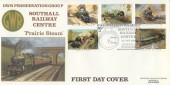 1985 Famous Trains, Southall Railway Centre Official FDC, GWR Preservation Group Southall Railway Centre H/S.