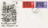 1965 Commonwealth Arts Festival, Stuart FDC, Godalming cds