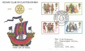 1978 Christmas, Rotary Club Clacton-on-Sea Official FDC, 50 Years of Rotary in Clacton H/S.