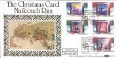 1988 Christmas, Benham BLCS37 Christmas Card Mailcoach Run Bath H/S