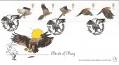 2003 Birds of Prey, Pair of Stick with Stamps Official FDC's, Eagle Lincoln Silver H/S