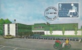 1975 Charity Postcard of Stoke Mandeville Sports Stadium FDC, Aylesbury Bucks FDI