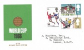 1966  World Cup Football, Ordinary Set GPO FDC, London EC FDI