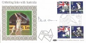 1988  Australian Bicentenary, Benham BLCS33 Cricketing Links with Australia FDC. Signed by David Gower