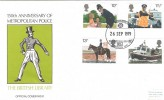 1979 Police, British Library Official FDC