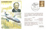 1979 Sir Freddie Laker Cover, Flown Gatwick to JFK New York. Signed by Freddie Laker