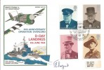1974 Winston Churchill, 30th Anniversary Operation Overlord D Day Landings FDC