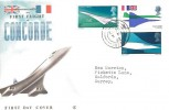 1969 Concorde Connoisseur FDC, Horley Surrey cds (Near to Gatwick Airport)