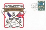 1982 British Textiles, Mossley Woolcombing & Spinning Co. Ltd, Golden Jubilee FDC