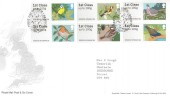 2010 Post & Go Birds (1), 6 x 1st Class, Royal Mail FDC