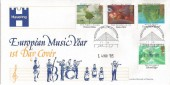 1985 Composers, Havering European Music Year FDC, Romford FDI