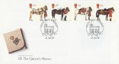 1997 All The Queen's Horses, Royal Mail FDC, Royal Mail Windsor H/S