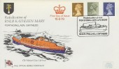 1979 11½p, 13p, 15p Definitives, RNLI FDC, Rededication of the new Porthdinllaen Pwllheli Gwynedd Lifeboat Kathleen Mary H/S