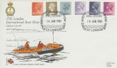 1981 2½p, 11½p, 14p, 15½p, 18p, 25p Definitive Issue, RNLI 27th London International Boat Show FDC