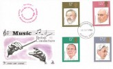 1980 British Conductors, Mercury FDC, Posted Ashford Kent, Ashford Kent FDI Birthplace of Sir Malcolm Sargent