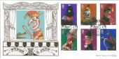 2001 Punch & Judy, Weston Super Mare, Benham Gold 500 Official FDC