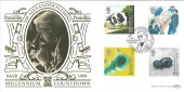 1999 Patients' Tale, Sir Alexander Fleming Penicillin, Official Benham Gold 500 FDC