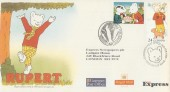 1993 Greetings, Rupert Bear Sunday Express Official FDC