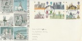1969 British Cathedrals, Trident FDC, York FDI. York Minster 5d Stamp