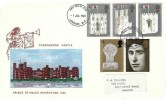 1969 Prince of Wales Investiture, Embroidered Card produced by Textiles & Philately, Caernarvon FDI