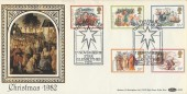 1982 Christmas, We three Kings Star Glenrothes, Benham BLS8 Official FDC