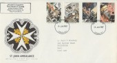 1987 St John Ambulance, Royal Mail FDC, House of Questa Cachet, London SE1 FDI