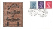 1973 4½p, 5½p, 8p Definitive Issue, Ye Olde Post Box of Horsham FDC, Horsham cds