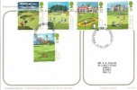 1994 Golf, Humorous Golfing Post Card, Full set of Golf Stamps on Back, First Day of Issue Crawley Postmark