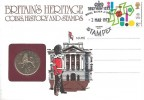 1977 Chemistry, Britain's Heritage Coins, History and Stamps FDC. Royal Silver Jubilee Stampex H/S