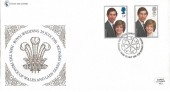1981 Royal Wedding, Cameo Stamp Centre Official FDC, Royal Wedding Celebrations London WC2 H/S