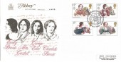 1980 Famous People, Abbey FDC, First Day of Issue Haworth Keighley  W.Yorks.H/S
