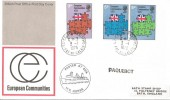 1973  European Communities, Post Office FDC, Calais cds with PAQUEBOT Markings