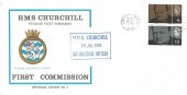 1970 HMS Churchill, Nuclear Fleet Submarine First Commission, Barrow-in-Furness Cover