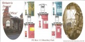 2002 Pillar to Post, Bletchley Park, Secret Postbox 111, Official Bletchley PO FDC.