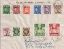 1950 Set of 11 KGVI Definitives with B.A Somalia Overprints FDC Very Scarce