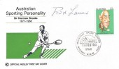 1981 Australian Sporting Personality, Sir Norman Brooks Tennis Cover, signed by Rod Laver