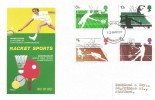 1977 Racket Sports, Philart FDC, Birmingham FDI